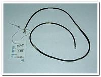 Шнур каучуковый для кулона с серебряными вставками