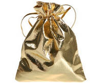 Мешочек подарочный золотой для украшений