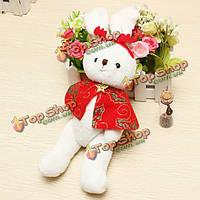 Плюшевые игрушки красный плащ кролик кукла малыши игрушки Рождественский подарок