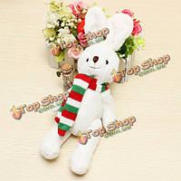 Шарф белый кролик плюшевые игрушки куклы детские игрушки Рождественский подарок