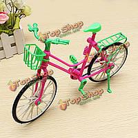 Миниатюрные съемные игрушки велосипед подходит Барби поворотный колеса