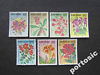 7 марок Гвинея Бисау 1983 цветы