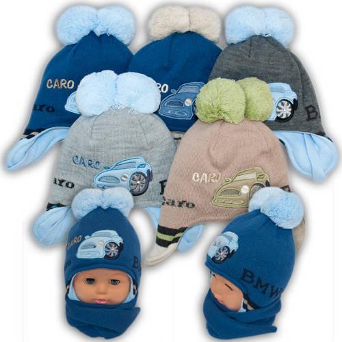 Детский комплект - шапка и шарф для мальчика, Amal (Польша), утеплитель Iso Soft, CH-42