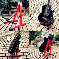 Универсальный сгибания-кадр электрический акустическая гитара этаж стенд держатель