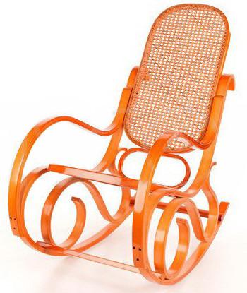 Кресло-качалка Rafia (светлое, сетка)
