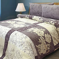 Ткань постельная Бязь (Б) НАБ. арт 133240 рис 3945-02 ШАБО КОРИЧ ПЛ.120 100% х/б 220СМ