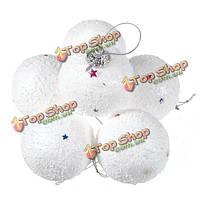 6шт украшение новогодней елки 4см снежок праздничную атрибутику