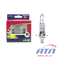 Лампа 48334 H1 12V 55W P14,5S RANGE POWER +50% BOX x2