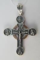 Православный крест из серебра 925* с золотом
