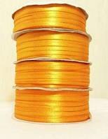Лента атласная 0.3см №15 ярко-желтая