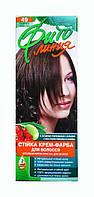 Стойкая крем-краска для волос Фито линия № 49 Темный каштан