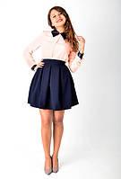 Трендовая юбка-клеш с карманами