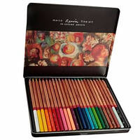 Карандаши Marco Renoir 24 цвета в металлической коробке,FineArt-24-tn