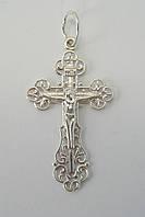 Ажурный серебряный крестик