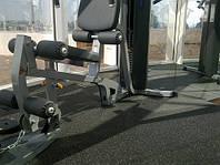 Спортивное покрытие черное Eco Sport для спортзалов 20 мм