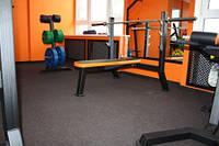 Спортивное покрытие черное Eco Sport для спортзалов 25 мм