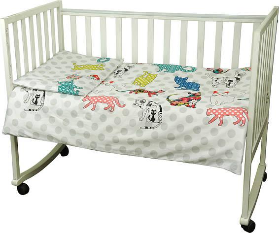 Детский комплект постельного белья для кроватки сатин 60Х120  Cat (932) , фото 2