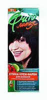 Стойкая крем-краска для волос Фито линия № 51 Черный