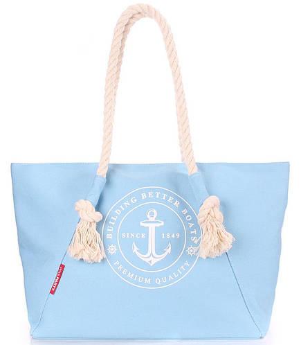 Вместительная женская сумка POOLPARTY pool-breeze-lightblue, светло-голубой