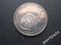 5 песо Куба 1999 фауна динозавр серебро