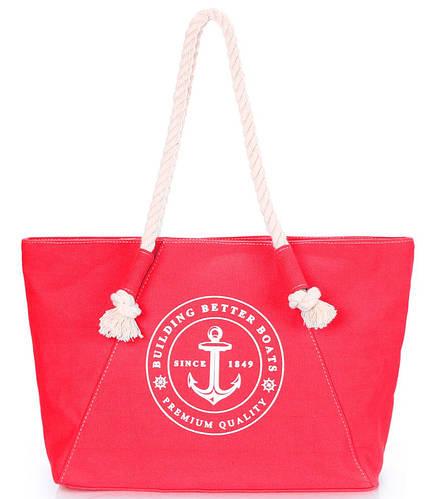Коттоновая  женская сумка POOLPARTY pool-breeze-red