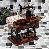 Винтажные мини швейная машинка механическая музыкальная шкатулка подарок на день рождения