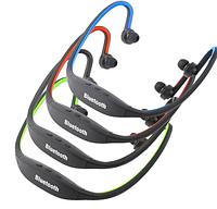 Спортивные Bluetooth наушники / MP3 плеер, синие