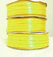 Лента атласная 0.3см №16 ярко желтая