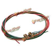 6 цветов радуги строки установить для акустической гитары аксессуаров стабильных