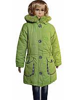 Куртка-пуговки Салатовый
