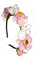 Ободок декорированный цветами Вдохновение