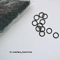 Кольца ширина 10 мм черные