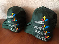 Печать логотипа на кепках