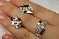 Набор украшений из серебра 925 и вставками золота