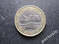 1 евро Финляндия 1999 фауна птицы гуси