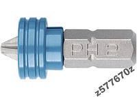 Бита PH 2x25 мм с ограничителем и магнитом,  GROSS