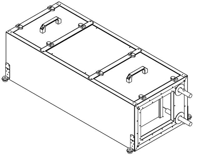 Подвесные вентиляционные установки с водяным калорифером (ПУ)
