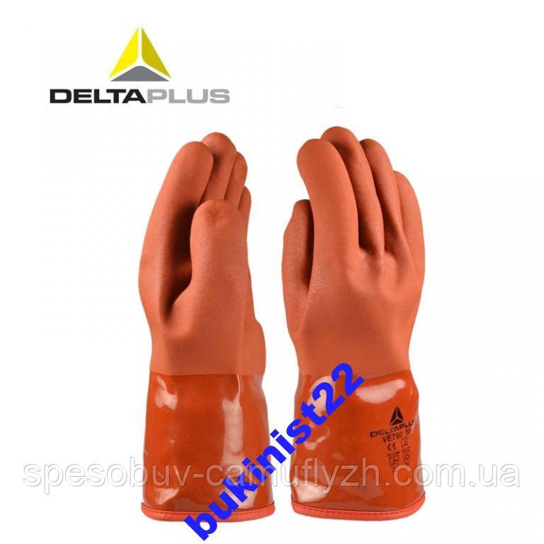 Перчатки Delta Plus VE 760 зимние для Рыбалки, и  работ с маслами. До -50*
