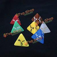 5шт/набор из четырех кубиков \подземелья и драконы\-дюймов Series настольная игра в кости-дюймов