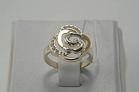 Кольцо Роза из серебра 925пробы с золотом