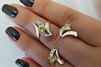 Набор - серебряные украшения кольцо и серьги