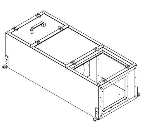 Подвесные вентиляционные установки с электрическим калорифером (ПУ)