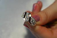 Серебряное кольцо 925* с золотом и камнями