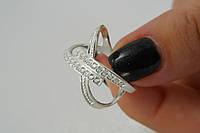 Серебряное женское кольцо 925 пробы Гламурный Сатурн