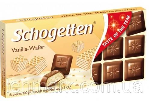 Молочный шоколад Schogetten «Vanilla-Wafer» ( с начинкой вафли и ванили) 100 г