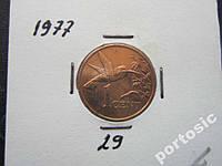 1 цент Тринидад и Тобаго 1977 фауна птица состоян