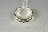 Кольцо Спаси и сохрани серебряное 925 пробы с золотой пластиной