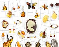 Янтарь в серебре (браслеты, броши, бусы, запонки, зажимы д/г, колье, кольца, подвески, серьги)