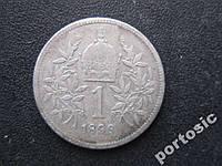 1 корона Австро-Венгрия 1898 серебро