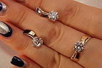 Набор изысканных серебряных украшений с золотом